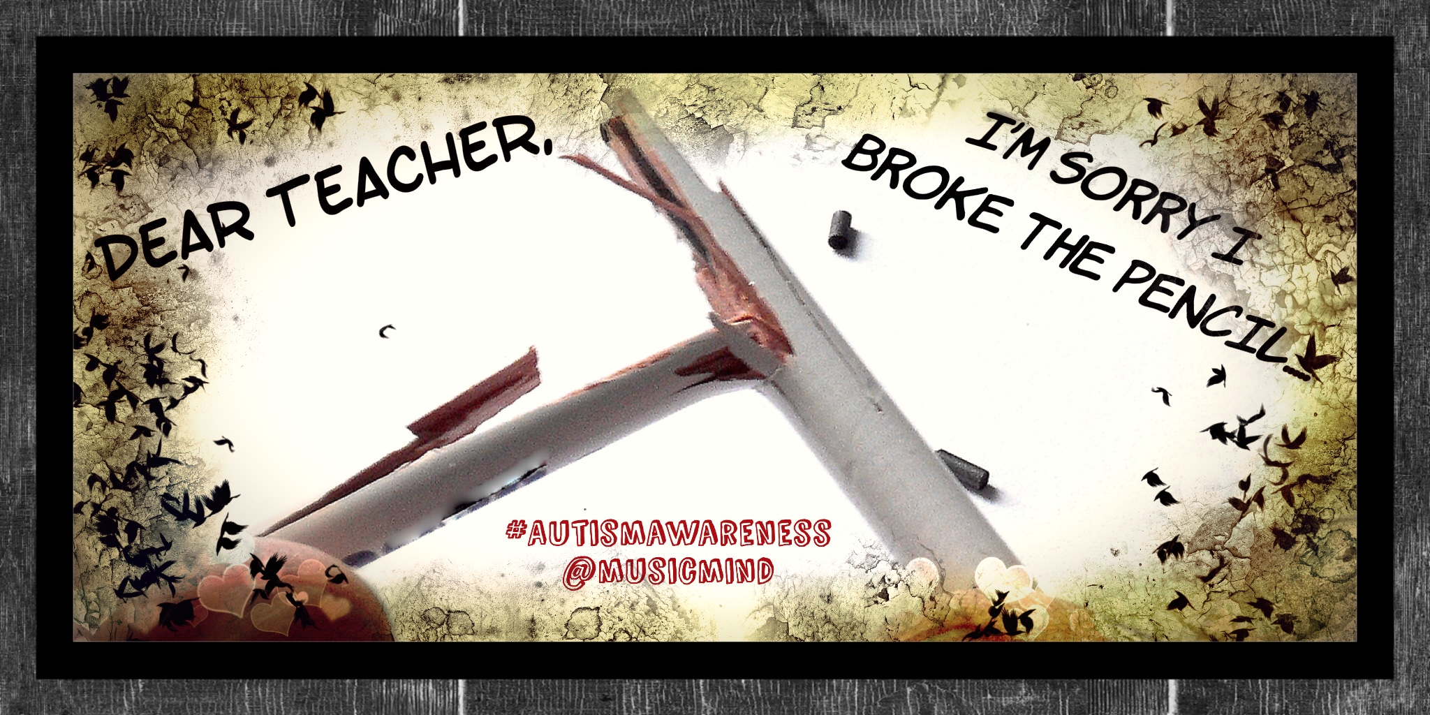 Dear Teacher, I'm sorry I broke the pencil…..