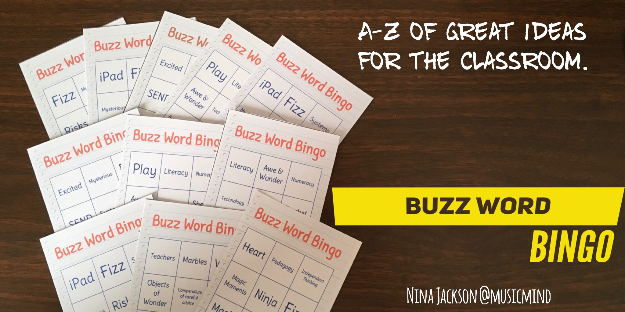 A-Z of great ideas for the classroom – Buzz Word BINGO