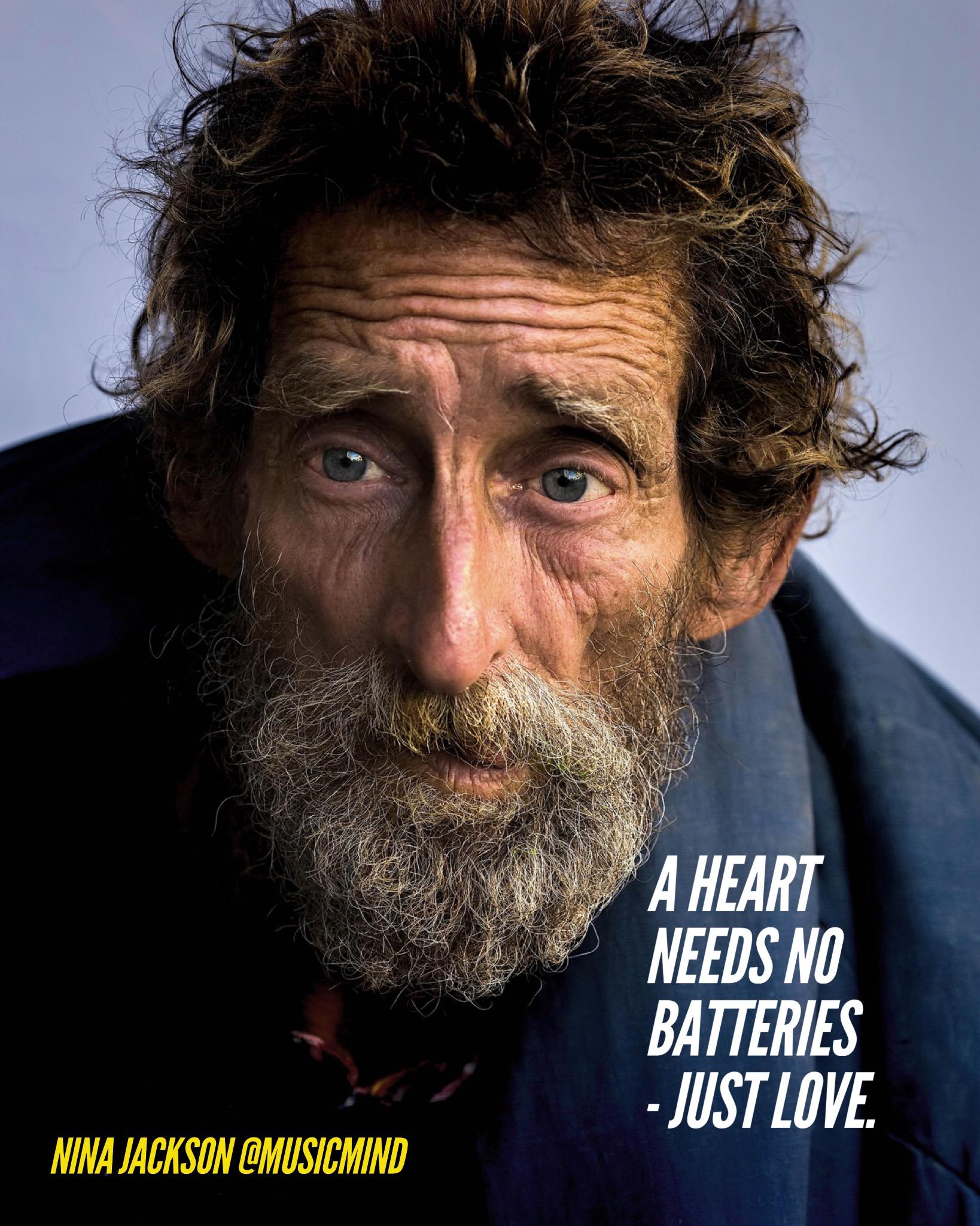 A heart needs no batteries – just love.